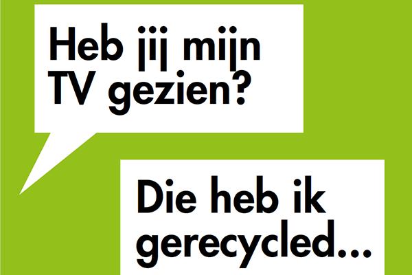 Nationale Recycampagne van 7 tot en met 21 oktober 2019